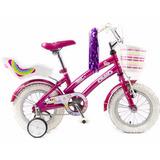 Bicicleta Rodado 12 P/ Nenas Tiny Pets Olmo Original Jiujim