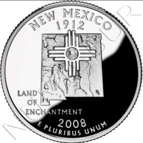 New México Quarter Dollar 2008 Flor De Cunho