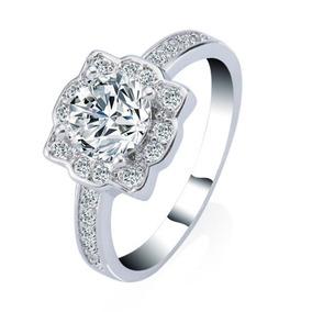 Anillo De Compromiso Ct 2 Diamonde Ring18k Oro... (1, 8)
