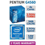 Procesador Intel Pentium G4560 4xcores 3.5ghz Turbo 3.0mb