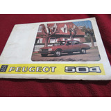 Manual De Uso Y Características De Peugeot 504 1984