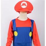 Fantasia Super Mario Infantil, Carnaval, Halloween, Menino