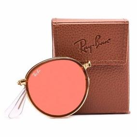 Óculos Ray Ban Round Dobrável Espelhado Rb3517 Original
