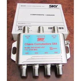 Chave Comutadora Sky 3x4 Use Também Como Diplexer R$ 5,70