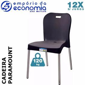 Cadeira Plastico Pé Polipropileno Aluminio Paramount 12x S J