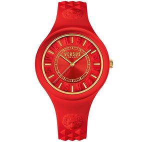 Reloj Versus By Versace Fire Island Rojo Vsfire10 Time Squar