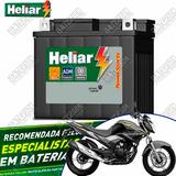 Bateria Heliar Moto 6ah Yamaha Fazer 250cc