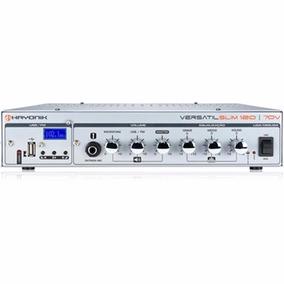 Amplificador Versátil Slim 120 70v Usb/fm