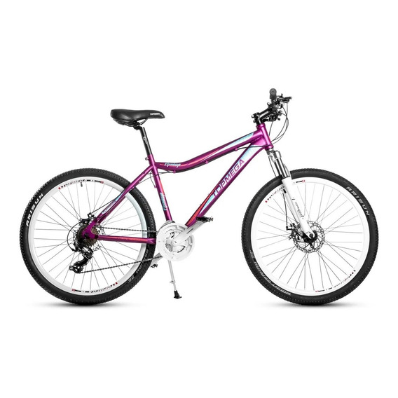 Bicicleta Mtb Top Mega Flamingo  26 Linga + Inflador+led Fas