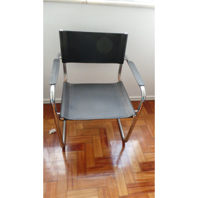 Tck Cadeira Em Metal E Couro Sintético Tok & Stok Perfeita!!