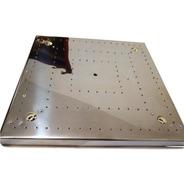 Base De Aço Inox 40cm 128 Furos Montagem Lustres