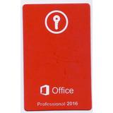 Cartão Chave Office Professional Plus 2016 Original!