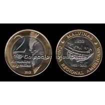 2 Pesos 30 Aniversario Malvinas De 2012, Unc, Sin Circular