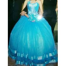 Hermoso Vestido Xv Color Acua