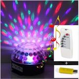 Parlante Mp3 Usb Con Luces Sicodelicas Led Magic Ball Bola