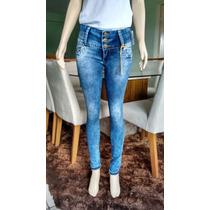 Calça Jeans Feminina R.i19 Luxo! Jeans Confort Plus!