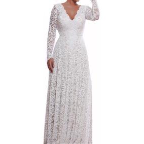 Vestido Longo Renda Soltinho Madrinha Casamento Noiva Vrl180