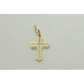 Pingente Cruz Crucifixo 12mm Ouro 18k - 750