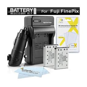 2pk Batería + Kit De Cargador Para Fuji Fujifilm Instax Mini