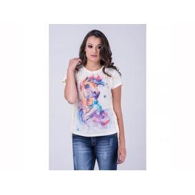 a4a4a061a73b3 T Shirt Zara Linda! Franjas ! - Camisetas e Blusas Manga Curta no ...