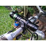 Linterna Led Recargable + Soporte Bicicleta 4 En 1 Multiuso