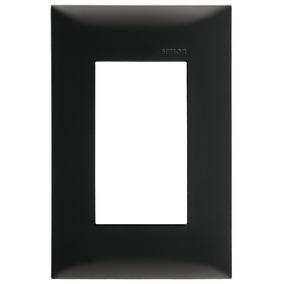 Placa 3 Módulos Sin Chasis Color Negro Ebano