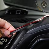 Moldura Para Interior De Auto Azul Rojo Tuning