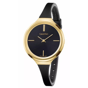 Reloj Calvin Klein K4u235b1 Negro/dorado Dama Envio Gratis