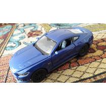 Ford Mustang 2015 Gt Azul Llantas Negras Welly 1:36