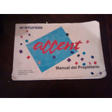 Manual Del Propietario Hyundai Accent 1994(c-30