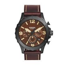 Relógio Fossil Pulseira De Couro Modelo Jr1502/0mn