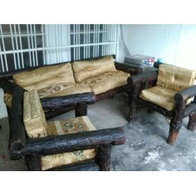 Juego De Muebles Para Porche O Sala Tipo Rustico