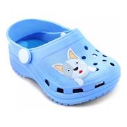 Babuche Infantil Juju Shoes - 7080 - 17-24 - Menino- Azul