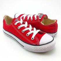 Tenis Casuales Para Niño Converse 9621 Lona Textil Rojo