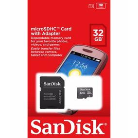 2cartão De Memória Micro Sd 32gb Sandisk Lacrado C/adaptador
