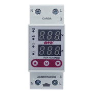 Protector Tension Baw 40a Monofasico Din Digital Volt Amper