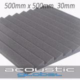 Placa Panel Acustico 30mm Con Cunias 50x50cm Salas De Ensayo
