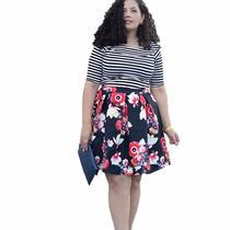 Vestido Casual Hipster Falda Estampado Retro Tallas Extra