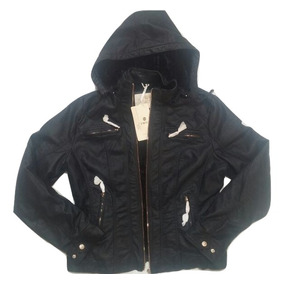 Campera Eco Cuero Con Piel Dama Yd Collections/tmill Import