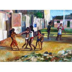 Óleo Tela Quadro Pintura Gravura Decoração Arte Crianças