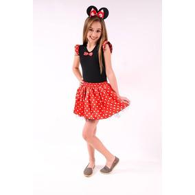 Fantasia Minnie Vermelha Ou Minnie Rosa Infantil
