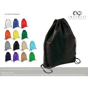 Bolso-mochila Ecológico Tipo Morral, En Tela Tnt, Reciclable
