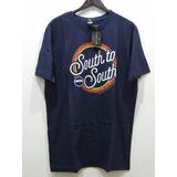 Camiseta Masculina South To South Azul Original