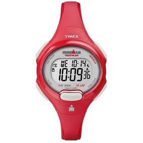 Reloj Timex Ironman Para Mujer Rojo T5k783