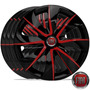Jogo Calota Aro 13 Esportiva Black Red Fiat Uno 1990/..4pcs