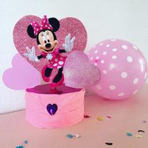 Centro De Mesa Minnie Mouse Cotillón Cumpleaños Infantiles