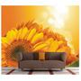 Adesivo Flores Papel De Parede Gg Fosco Amarelo Girassol 42