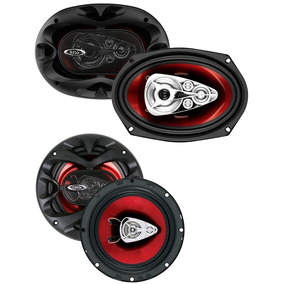 Combo 4 Parlantes Boss Ch 6930 6x9 400 W + Ch 6530 6,5 300w