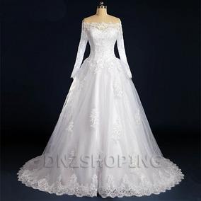 Vestido De Noiva Com Mangas Frente Grátis