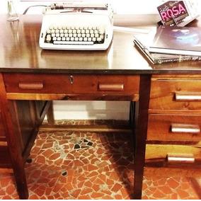 Mesa De Escritório Imbuia Restaurada